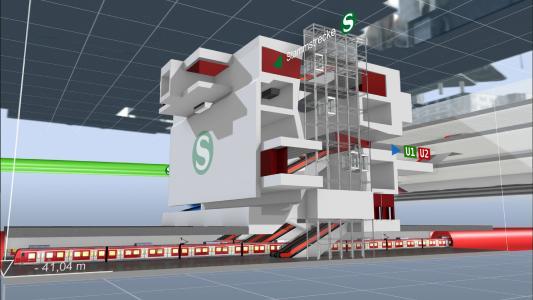 Visualisierung VE 30: Die neue unterirdische Station Hauptbahnhof, Quelle: Deutsche Bahn AG / Fritz Stoiber Productions