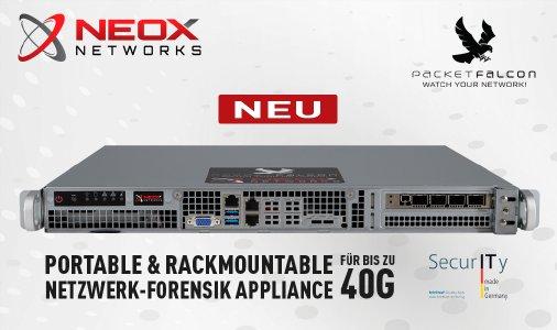 NEOXPacketFalcon Compact Portable & Rackmountable Netzwerk-Forensik Appliance für bis zu 40Gbps