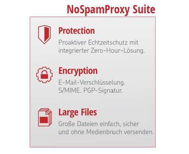 Net at Work bietet die Secure E-Mail-Gateway-Lösungen NoSpamProxy Protection, Encryption und  Large Files ab sofort gebündelt als NoSpamProxy Suite / Partner sparen mit dem Bundle 30 Prozent gegenüber den Einzelpreisen
