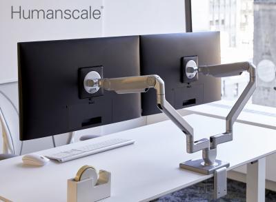 Humanscale Dual Monitor Tischhalterung