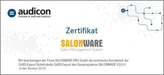 GoBD zertifizierter Export der Kassenbuchdaten der Friseursoftware