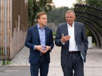 Im engen Austausch: TRATON CEO Andreas Renschler (rechts) mit COO Christian Levin