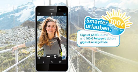 Mit dem Gigaset GS160 jetzt Reisegutschein über 100 Euro sichern.