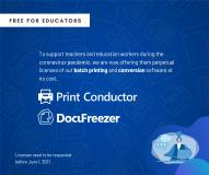 fCoder is Making DocuFreezer and Print Conductor Free for Teachers