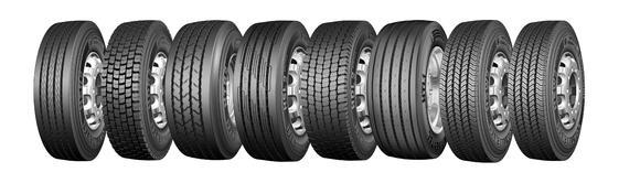 Acht neue Premium-Nutzfahrzeug-Reifen in fünf Dimensionen