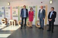 Dr. Kersten Roselt, Jana Liebe, Minister Wolfgang Tiefensee, Prof. Dr. Peter Bretschneider