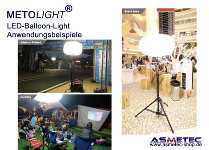METOLIGHT LED-Ballon-Leuchten - Anwendungsbeispiele