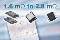 Vishay TrenchFET® Power MOSFETs For OR-ing Applications Feature Industry-Best On-Resistance Down to 1.5 Milliohms in SO-8 Footprint Area with 20-V Drain-to-Source and Gate-to-Source Ratings