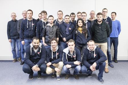 Maschinenbau-Studierende aus Frankreich besuchen die Hochschule Bremen (Foto: Dennis Welge, Hochschule Bremen)