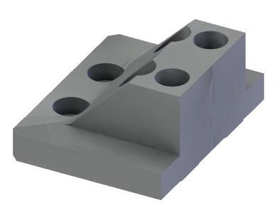 Breitenreduzierte Spannbacken 64mm für 5 Seitenbearbeitung.