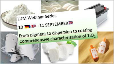 From pigment to dispersion to coating - comprehensive characterization of TiO2