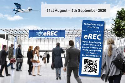 Messe-Eingang der eREC (Abb.: MSV GmbH)