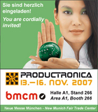 BMC Messsysteme GmbH first-time represented at PRODUCTRONICA 2007
