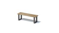 Bisley FORTIS Desking - Sitzbank Regular mit gerader Kante, SO Gestell