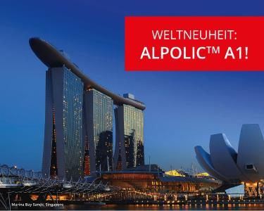 weltneuheit aluminium verbundwerkstoff alpolic f r die brandschutzklasse a1 klassifiziert