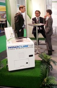 "The ""windcube"", BBB's LIDAR system presented at this year's EWEA event  in Vienna"