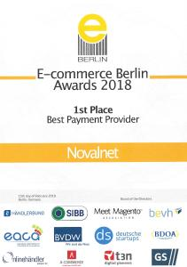 eCommerce Berlin Award 2018