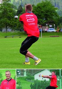 Tristan Schwandke gilt als eines der größten Hammerwurf-Talente Deutschlands. Stiebel Eltron unterstützt den Nachwuchsathleten - auf dem Trikot die Initiative des Unternehmens für das Haus der Zukunft: Project Energy hoch e