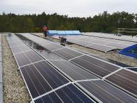 Solaranlage auf einem Flachdach