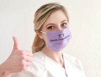 """Nicole Piontek setzt auf Sicherheit: Unter anderem lässt sie für ihr Mitarbeiterteam einen eigenen Mundschutz (""""Behelfsmaske"""") produzieren"""