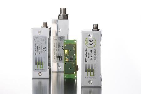 Verschiedene Varianten des 2E Neigungssensors (Bildquelle: 2E mechatronic GmbH & Co. KG)