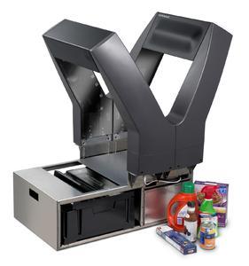 Basierend auf neuester Technologie ist der Portalscanner Jade X7 von Datalogic ein leistungsstarkes und einzigartiges Datenerfassungssystem. Er erkennt mit Hilfe von Scantoren sowie einer speziellen Kameratechnologie die Ware bildhaft, unabhängig von ihrer Ausrichtung auf dem Band, und erfasst die Barcodes.