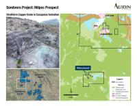 Auryn Identifies Significant Copper Mineralization at New Prospect Near Sombrero