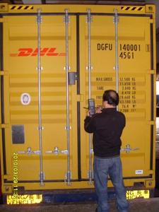The first CSD equipped container in preparation for its trip to Europe