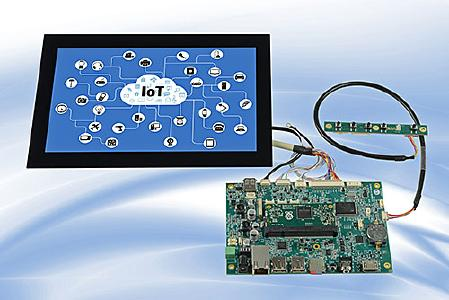 Artista-IoT-Starterkit mit Tianma 10,1-Zoll Super Fine TFT-Display und PCAP Multi-Touchscreen / Foto: Distec GmbH