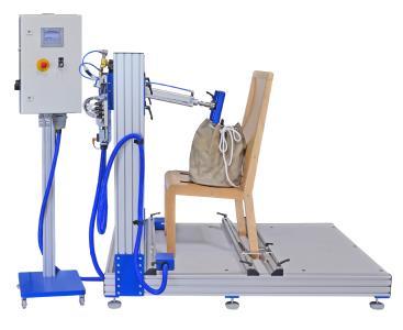 Prüfstand für Kippfalltests an Stühlen