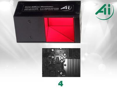 Abb. 4 Leiterplatte, DL2449, axial diffus, rot
