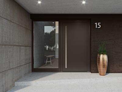 Le système de porte d'entrée heroal D 72 est idéal pour toutes les situations de montage dans les nouvelles constructions et les rénovations, qu'elles soient exclusives et modernes ou d'une élégance intemporelle / © heroal