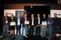 Die Finalisten und Gewinner in der Kategorie Mittelstand des BARC Best Practice Awards 2018 mit BARC-Gründer Carsten Bange