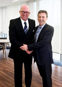 G.J. Kaimann, CEO and owner of Kaimann GmbH and Bernard Vercaemst, CEO IPCOM-Group.