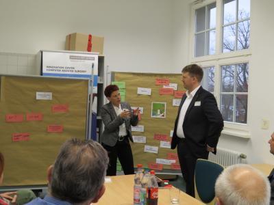 Erarbeitung der Projektsteckbriefe, Dr. Ina Meinelt (P3N MARKETING GMBH), Dr. Felix Lenk (TU Dresden), Foto: P3N MARKETING GMBH