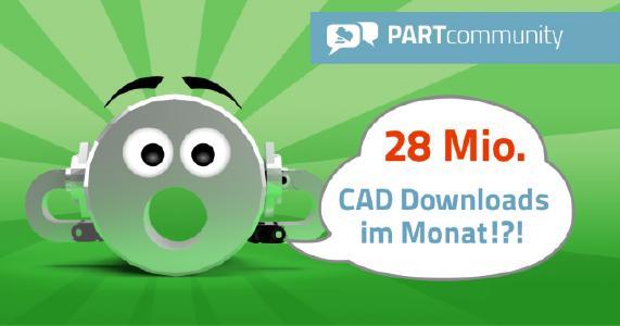 PARTcommunity erreicht über 28 Mio. CAD Modelle Downloads pro Monat