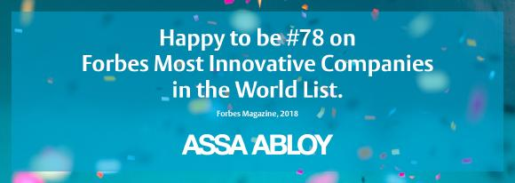 ASSA ABLOY Forbes Most Innovative Companies