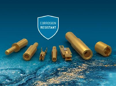 ODU Contacts with corrosion-resistant gold plating