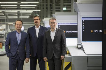 The new management team of the Onlineprinters group (from left): CFO Dirk A. Müller, CCO Christian Würst and CEO Dr Michael Fries, Copyright: Onlineprinters GmbH