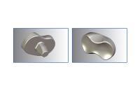 Werkstoffoptimierte Werkzeuge von Hufschmied unterscheiden sich von bisher handelsüblichen Ausführungen durch hohe Oberflächengüten und die Gratfreiheit nach dem Bohren und Fräsen. Im Bild zu sehen ist ein Knieimplantat / Bildquelle: Hufschmied Zerspanungssysteme