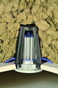 SpotClip II vereinfacht den Einbau von Leuchten in Zwischendecken isoliert mit losem Material