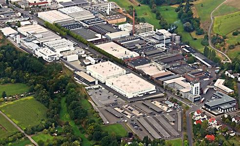 Blick auf den Hauptsitz der Schunk Group