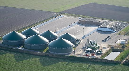Luftbild Biogasanlage