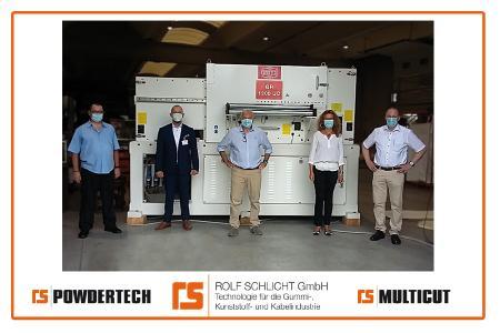 Der weltgrößte Bandgranulator GR1200UC ROLF SCHLICHT GmbH & SAGITTA