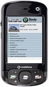 Skoda-Internetseite per Handy