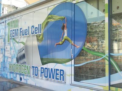 Brennstoffzellen Großanlage im Solvay Werk bei Antwerpen