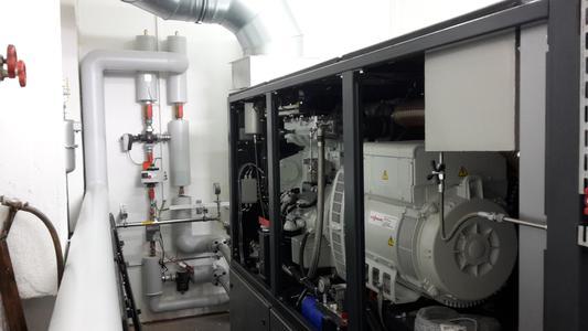 Der große Vorteil eines Blockheizkraftwerks ist der extrem gute Wirkungsgrad von 91 % bei der Nutzung von Erdgas in der Kraft-Wärme-Kopplung (Bild: Sumitomo (SHI) Cyclo Drive Germany GmbH)