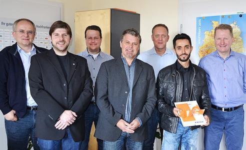 Bild: Christian Schrenk, Rainer Strobel, Andreas Hampel, Jörg Böckel, Peter Schwinn, Güven Kapici und Achim Hager (von links)
