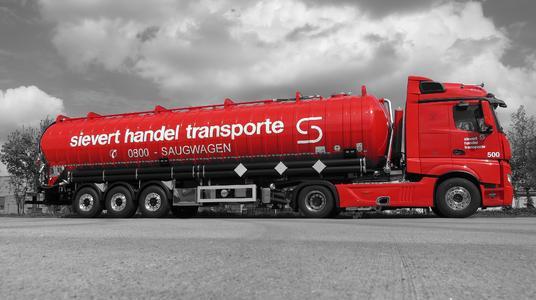 Der neue Saugwagen der Sievert Handel Transporte. Foto: sht