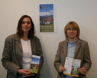 v.l.  Dr. Heike Bille und Helga Wieber